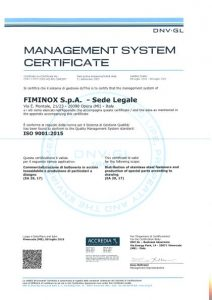 FIMINOX Management System Certificate